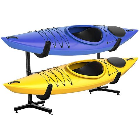 RAXGO Freestanding Kayak Rack Two Kayaks is a simple way to make a big difference in your sports storage areas.