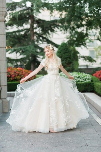 I Found My Wedding Dress I Literally To Wear This On My Wedding Day I Hope They Keep It Arou Ball Gowns Wedding Modest Wedding Dresses Lds Wedding Dresses Lace