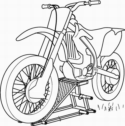 Aneka Gambar Mewarnai Sepeda Motor Anak Paud Tk Pinterest Motors
