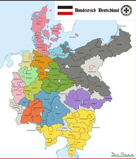 Bundesreich Deutschland By Demianshab Mit Bildern Landkarte
