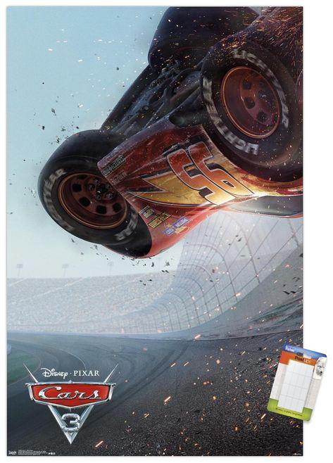 Disney Pixar Cars 3 - One Sheet Premium Poster and Poster Mount Bundle