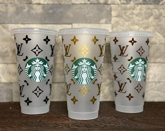 Louis Vuitton Etsy In 2020 Starbucks Cup Art Personalized Starbucks Cup Custom Starbucks Cup