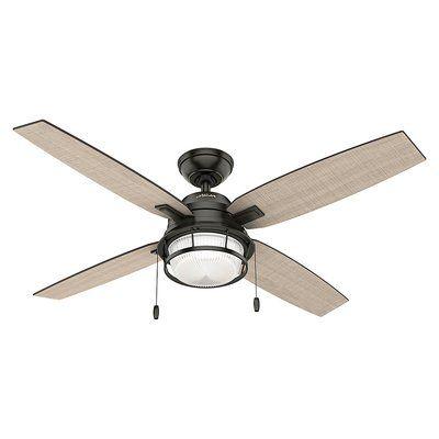 Hunter Fan 52 Ocala 4 Blade Standard Ceiling Fan With Pull Chain And Light Kit Included Wayfair In 2020 Ceiling Fan Ceiling Fan With Light Bronze Ceiling Fan