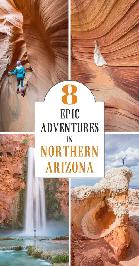 8 Epic Adventures in Northern Arizona! Arizona is full of beautiful expansive landscapes and amazing hiking and camping opportunities. Read this article to discover our 8 favorite outdoor adventures in Northern Arizona. Arizona Road Trip, Arizona Travel, Hiking In Arizona, Waterfalls In Arizona, Grand Canyon Waterfalls, Oregon Road Trip, Trip To Grand Canyon, Grand Canyon National Park, Grand Canyon Arizona