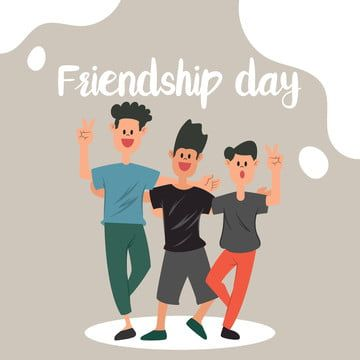 Friendship Day With Flat Cartoon Young People Posing Happy People Clipart Friends Friendship Png And Vector With Transparent Background For Free Download International Friendship Day Friendship Fathers Day Poster