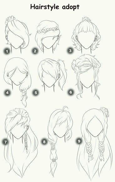 Tipos De Peinados Sketches Drawings How To Draw Hair
