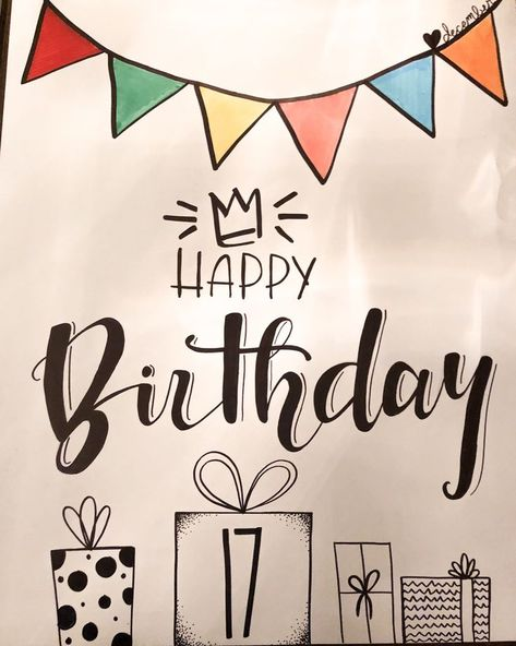 DIY birthday poster, birthday card, boyfriend birthday