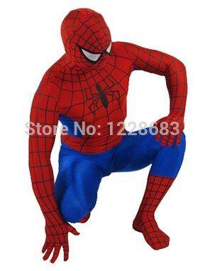 Superhero Adult Spiderman Costume Adult Halloween Cosplay Lycra