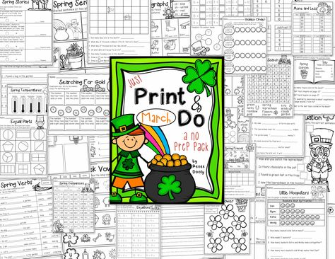 March Print and Do- math and literacy printables.