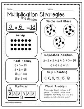 Multiplication Learn Your Facts Practice Pages And Printables