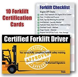 Forklift Certification Card Template In 2020 Certificate Templates Forklift Card Template