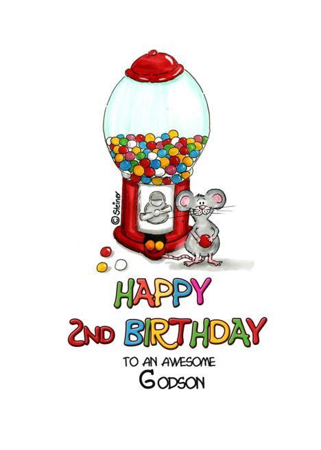 Happy Birthday 2nd Birthday Godson Second Birthday 2 Card Ad Affiliate Birthday Happy C Happy 11th Birthday Happy 6th Birthday Happy 10th Birthday