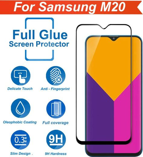 Knotyy Tempered Glass Guard For Samsung Galaxy M20 Samsung M20