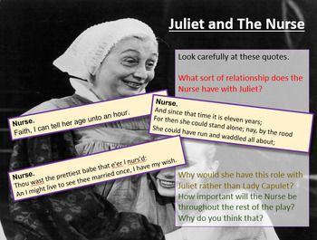 Romeo And Juliet The Nurse With Images Romeo And Juliet