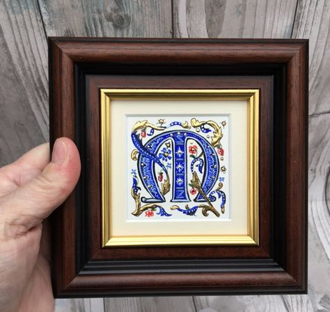 illuminated letter l m or n medieval style initial letter etsy illuminated letters graffiti alphabet lettering alphabet fonts