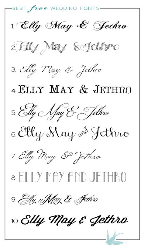 The Best Free Wedding Fonts No. 1