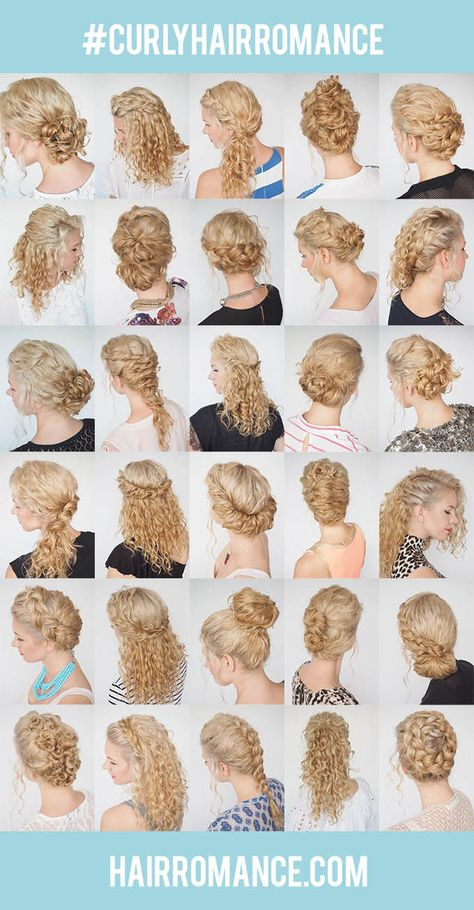 The 30 Days of Curly Hairstyles ebook is here! Find all these tutorials plus tips on how to style your curls every day with ease! Go to http://www.hairromance.com/shop