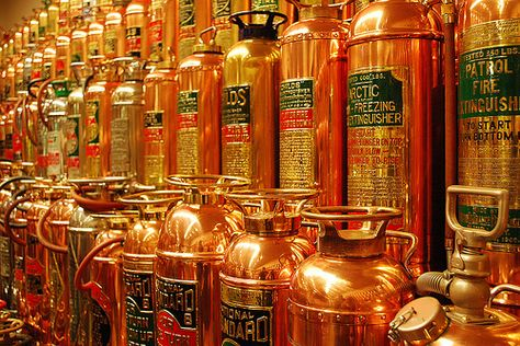 Vintage Fire Extinguishers, I need about 5 of these for the top of my cabinet.