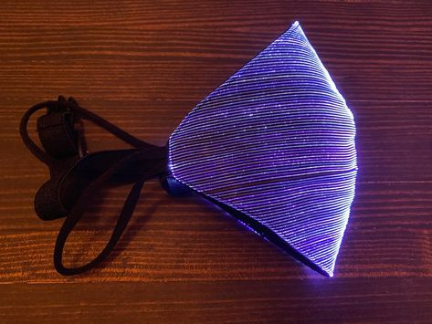 Face Mask With RGB LED Fiber Optic Fabric ID: 4605 - $0.00 : Adafruit Industries, Unique  fun DIY electronics and kits