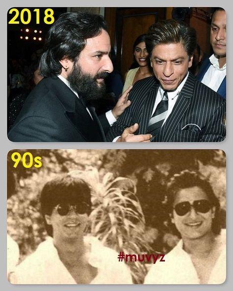 #ShahrukhKhan #SaifAliKhan #BollywoodFlashback #90s #NowAndThen #muvyz080118 @iamsrk #instapic #instagood #instadaily #muvyz