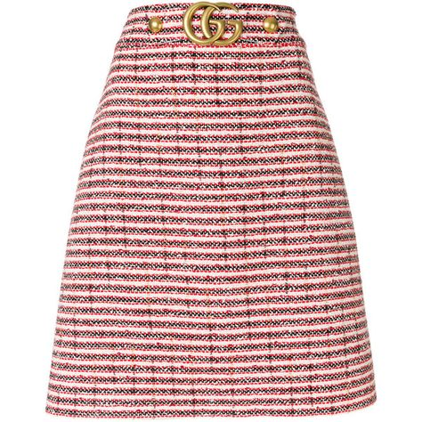 2a0d0c928fa0 Gucci Tweed Skirt (4,175 PEN) ❤ liked on Polyvore featuring skirts, red,  red knee length skirt, pink skirt, red skirt, pink a line skirt and high  waisted ...