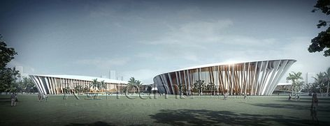 This is the one of our 3D rendering projects that we did before for Convention Center in Sanya. Any more details about 3D rendering, contact me at any time.