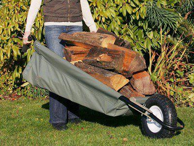 Allsop Garden Wheeleasy Foldable Canvas Wheelbarrow Wheelbarrow Garden Cart Home Vegetable Garden