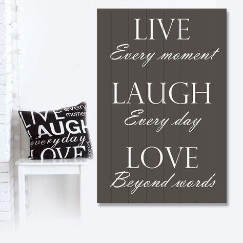 Muurteksten Op Hout.Tekst Op Hout Live Love Laugh Hout Muurteksten En Teksten