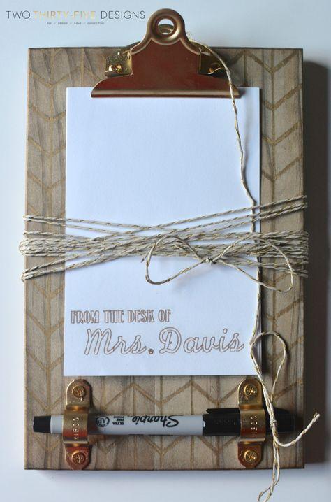 DIY Sharpie Clipboard - Two Thirty-Five Designs