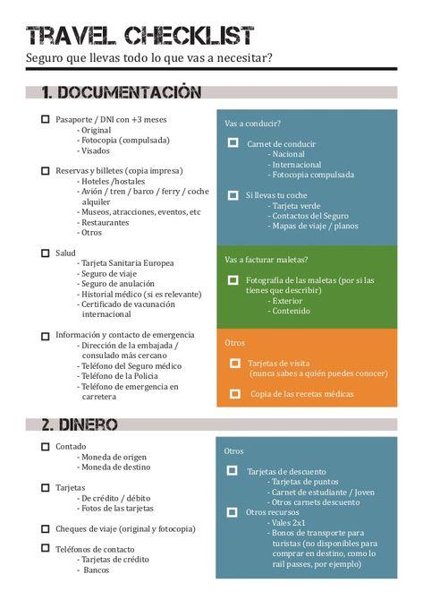 Travel Checklist Que Llevar En Tu Equipaje Travel Checklist