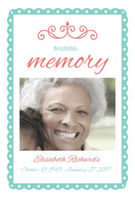 In Loving Memory printable invitation template. Customize, add text ...