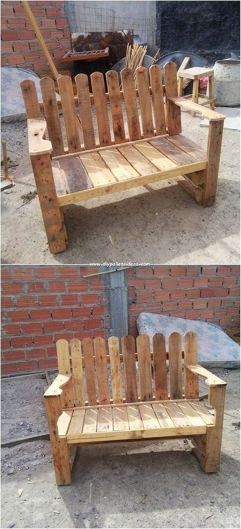 This Bench Creation Made Out Of The Wood Pallet Has Been Much