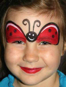 Ladybug Face Paint Facepainting Too Faced Kostum Makyaji