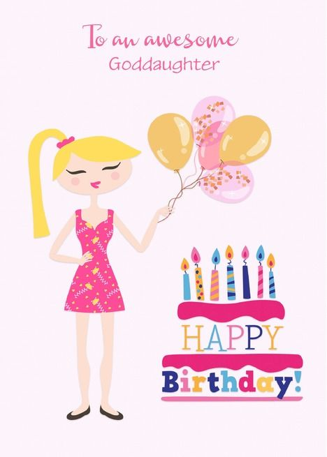 Customize Relationship Birthday For Young Adult Woman With Cake Card