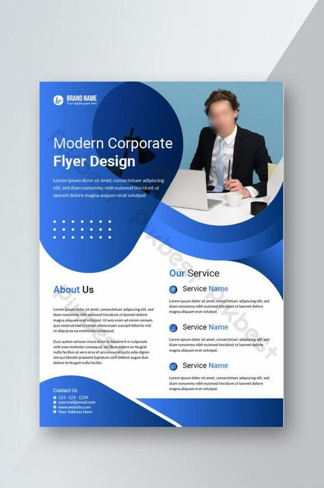 Creative corporate business marketing brochure flyer template design for advertisement. | AI Free Download - Pikbest