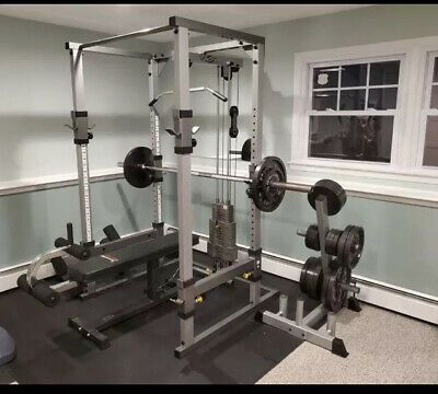 Ad Ebay Tuff Stuff Complete Home Gym With Bench Accesories And Weights Home Gym Set Home Gym Gym Equipment Workout