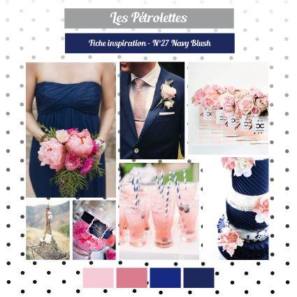 Rose Poudre Bleu Marine Inspirations Mariages Bleu
