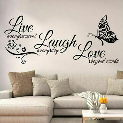 Live Laugh Love Quotes Butterfly Wall Stickers Art Living Room Decal Home Decor In 2020 Modern Wall Decals Living Room Decals Wall Stickers Home