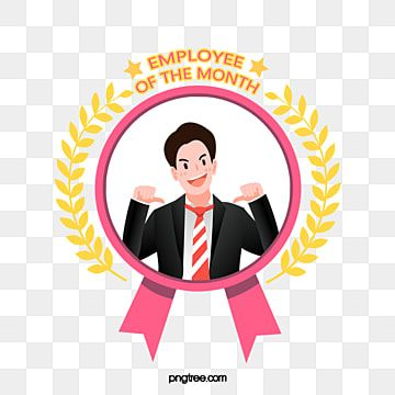 كرتون مسطح موظف شهري ممتاز الشخصيات الإبداع الموظفين Png وملف Psd للتحميل مجانا Cartoon Months Employee