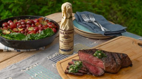 Steak and potatoes are one of the best things you can make on the grill! 👏   Sponsored by Lea  Perrins. #ad