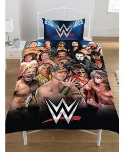WWE RAW V SMACKDOWN DUVET COVER SET REVERSIBLE KIDS BEDDING SINGLE /& DOUBLE