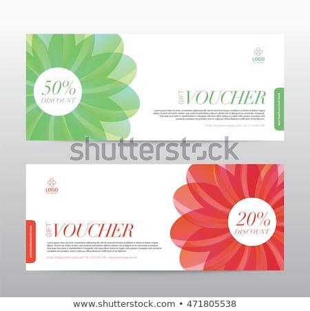 Template Gift Voucher Coupon Discount Background Modern Design Vector Illustration Brochure Design Templates Voucher