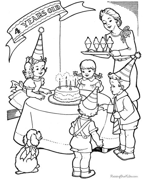 Free Printable Birthday Party Color Page Birthday Coloring Pages