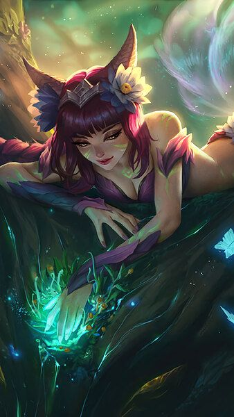 Ahri Lol Elderwood Splash Art 4k Hd Mobile Smartphone And