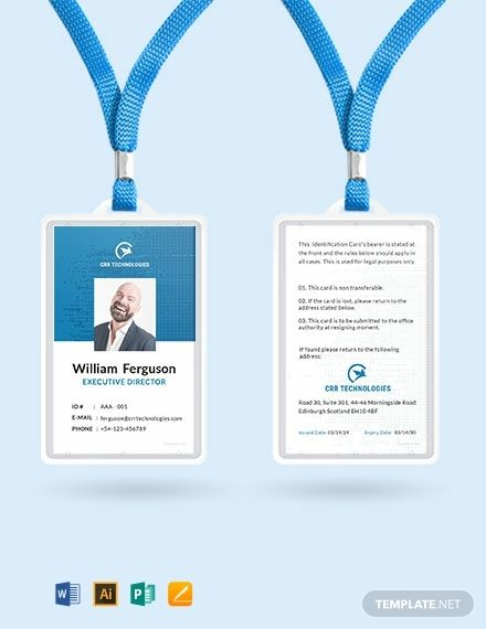Employee Id Card Template Free Pdf Word Apple Pages Illustrator Publisher Employee Id Card Employees Card Id Card Template