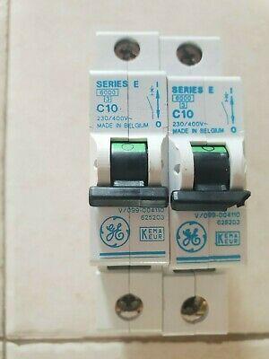 2 Units Lot Ge Series E 6000 V 099 004110 C10 10a Mcb Miniature Circuit Breaker Miniatures The Unit Breakers