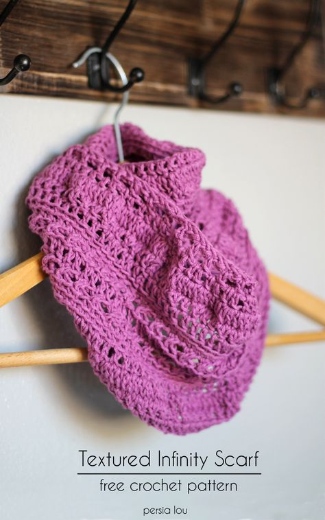 Persia Lou: Textured Infinity Scarf Pattern