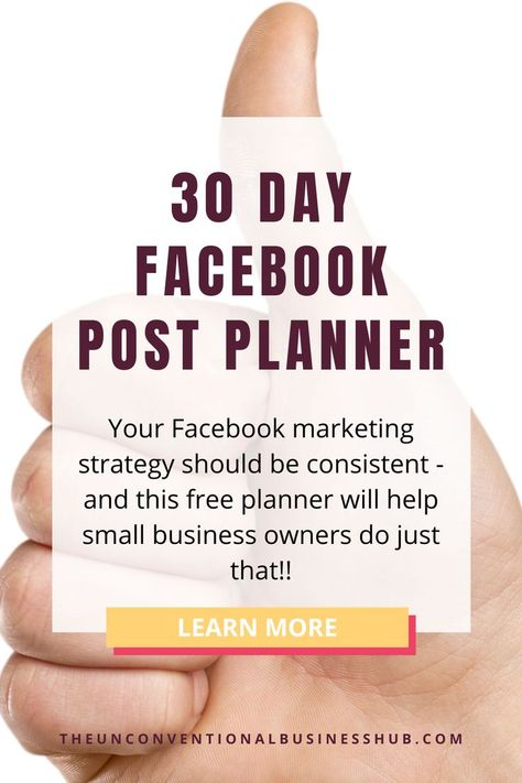 {FREE} 30 Day Facebook Post Planner
