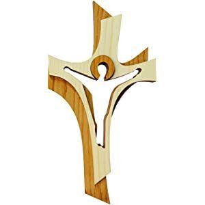 Anzmann crucifix en bois d/érable