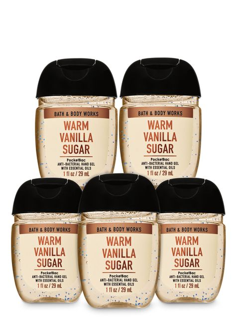Bath Body Works Warm Vanilla Sugar Pocketbac Hand Sanitizers 5